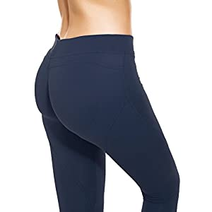 RUNNING GIRL Sexy Butt Lift Push Up Leggings Yoga Pants Shapewear Skinny Tights (XL, Navy Blue)
