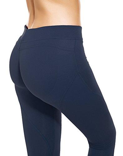 5eae1484871 RUNNING GIRL Butt Lift Leggings Scrunch Butt Push Up Leggings Yoga Pants  for Women Shapewear Skinny Workout Tights (Navy Blue