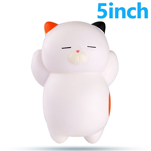WATINC 1Pcs Jumbo Squishy, Kawaii Cat Cream Scented Slow Rising Squishy for Kid Toy, Lovely Toy,Stress Relief Toy,Decorations Toy Gift (Jumbo Cat)