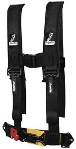 "Dragonfire Racing 4 Point 2/"" Sewn Black Youth H-Style Harness w// Pads UTV ATV"