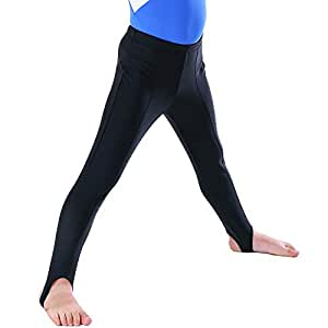 Dance Boy's Stirrup Pants Ballet Hold Full Length Stretchy Gymnastics Leggings NT1712103,Black,SC/100-114CM/17-23KG