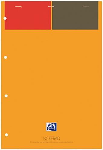 Oxford 001 International Notizblock 80 Seiten A4+ 5 Stück orange/grau