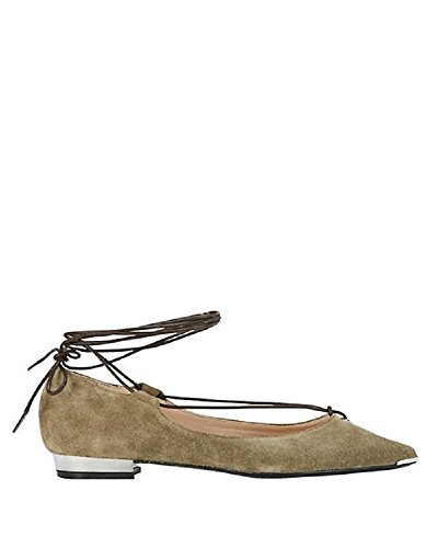 Barbara Bui Ankle Tie Suede Flats 41 by Barbara Bui