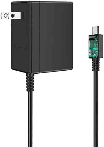 Switch Charger for Nintendo Switch, Power Supply Adapter, Fast Charger Compatible with Nintendo Switch and New Switch Lite, with PD IC Chip Output 15V/2.6A (Support TV Mode)