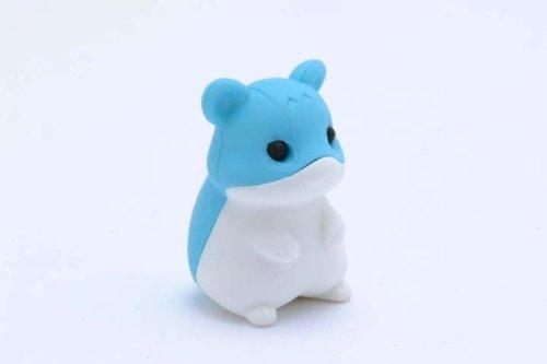 Blue & White Hamster Japanese Eraser. Volume 2. 2 Pack