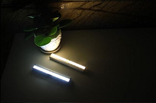 E-Bro LED Light Bar Motion Sensor Detector Night Light Closet Under Cabinet Night Light - Battery Operated (Yellow) by E-Bro