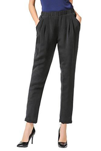 VOA Women's Silk Black Pencil Pants K3800