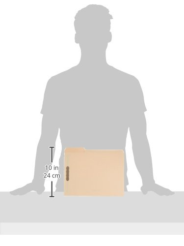 AmazonBasics Manila File Folders with Fasteners - Letter Size, 100-Pack by AmazonBasics (Image #5)