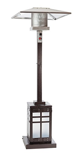 fire sense square hammered illuminated patio heater