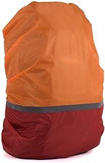 HATCHMATIC 20L-70L réfléchissant la lumière imperméable Sac à Dos Anti-poussière Rain Cover Ultraléger Portable épaule Protection Outils randonnée en Plein air: Orange-Rouge, 50-70L