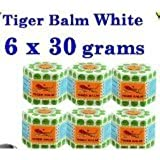 White New Tiger Balm New Herbal Ointment Relief Muscular Pain 30g x 6
