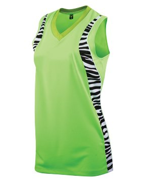 Softball Jersey Racerback (Girls Zebra Racerback Jersey (Small))