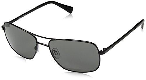 Cole Haan Men's Ch6001 Metal Navigator Aviator Sunglasses, Dark Gunmetal, 59 - Sunglasses Cole Haan Aviator