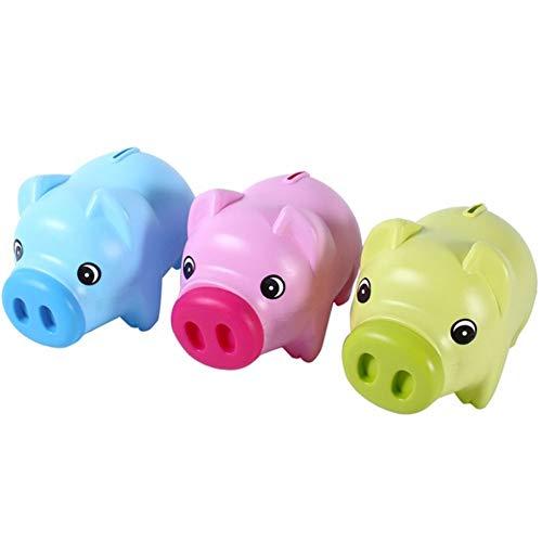 (Pig Piggy Bank Plastic Coin Money Cash Saving Box Kids Educational Toy Gift Home Decoration Piggy Bank. 2 Pcs)