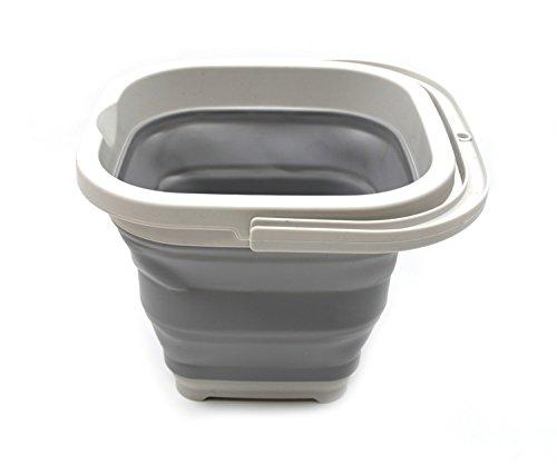 SAMMART 5L (1.3 Gallon) Sqare Collapsible Plastic Bucket