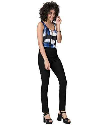 - LE CHÂTEAU Piqué Slim Leg Crop Pant for Women,0,Black
