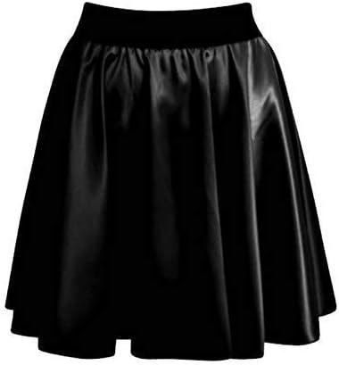 NEW WAREHOUSE BLACK POCKET PU LEATHER LOOK MINI SKIRT SMART DAY NIGHT LOOK UK 12