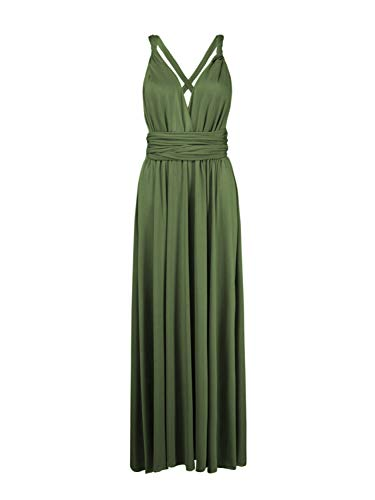(Persun Infinity Gown Dresses Multi-way Strap Wrap Convertible Maxi Dresses for Womens)