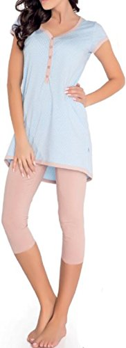Di Ficchiano - Pijama entero - para mujer azul claro