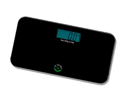 NewlineNY SBB0718M-NYBK Step-On Mini Travel Bathroom Scale, Cool Black