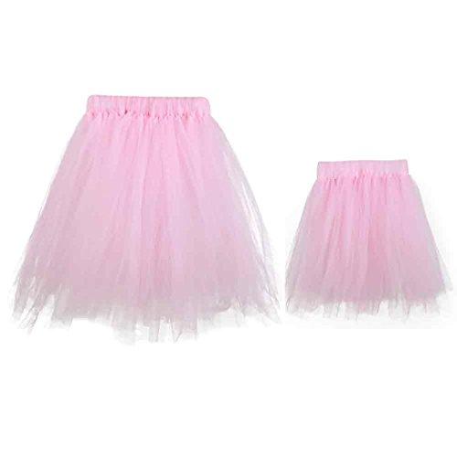 [Gotd Newborn Baby and Mom Tutu Dress Costume Photo Photography Prop (Pink)] (12 Month Girl Costume)