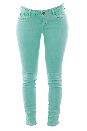 mint colored jeans - 1