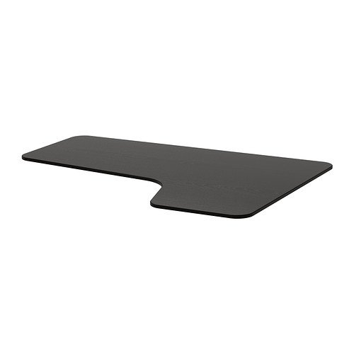 IKEA BEKANT - Derecho a mano mesa de la esquina superior, negro ...