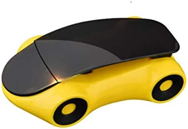 YIKETING カーアクセサリーホワイトスポーツカーモデルペーストタイプ回転式自動車電話ホルダー電話マウント (色 : イエロー)
