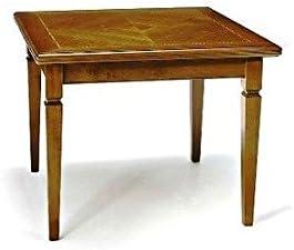Tisch Esstisch Nussbaum Cm 100x100 Offnen Cm 200x100 Italienischer Produktion Amazon De Kuche Haushalt