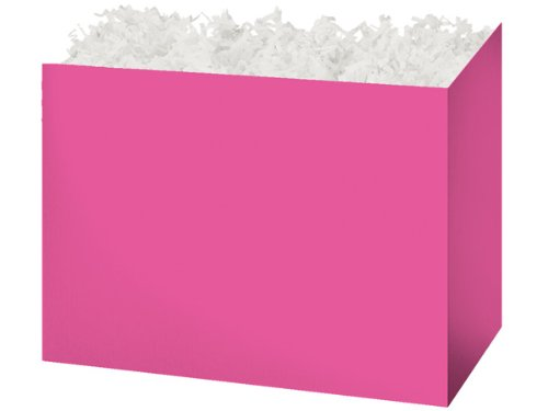 "CLEARANCE - Large 10 1/4""x6""x7.5"" Pink Basket Boxes for Gift"