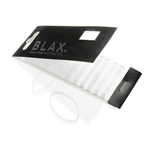Blax CLEAR Hair Elastics 4mm, 8 ct