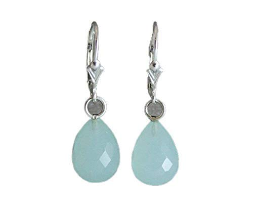 Aqua Chalcedony Pear shape 12x20mm Briolette,Aqua Chalcedony Teardrop Briolette,Aqua Chalcedony Faceted Briolettes,Calibrated Gemstone Beads