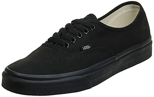 Vans Authentic, Zapatillas de Lona Unisex, Negro (Schwarz/Weiß), 44.5