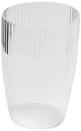 Carnation Home Fashions Ribbed Acrylic Wastebasket, Clear