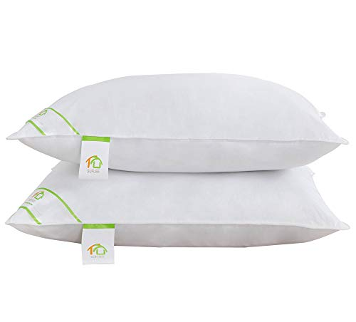 King Size Bed Pillow (SUFUEE King Size Pillows Set of 2 Pack,100% Cotton Cover Down Alternative Comfortable Hypoallergenic Pillow (20