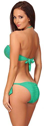 Antie Parte Superior del Bikini Para Mujer Coco Turquesa