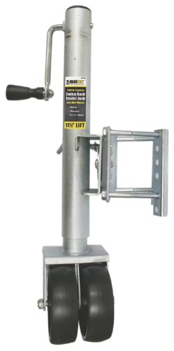 MaxxHaul 70149 11-1/2' Lift Swing Back Trailer Jack with Dual Wheels - 1500 lbs. Capacity MaxxTow Towing Products (MAXXR)