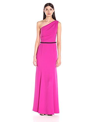 Women's Infusion Fuchsia Gown Marc Carmen Shoulder Long Valvo One qtwUxSgP