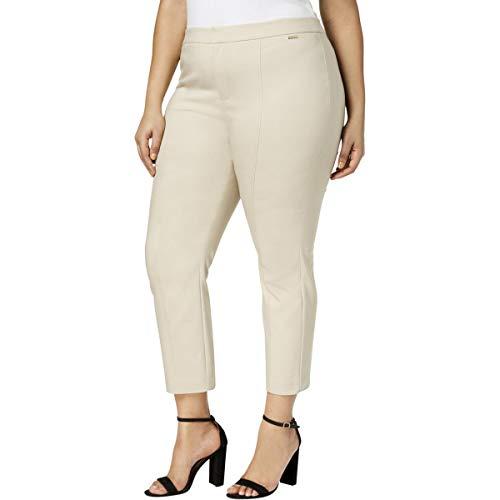 (Charter Club Womens Plus Ankle Office Skinny Pants Beige 16W)
