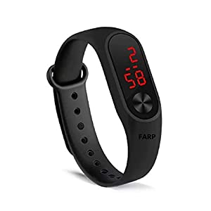 FARP Digital LED Watch Band Type Black Colour Mens and Boys Watch