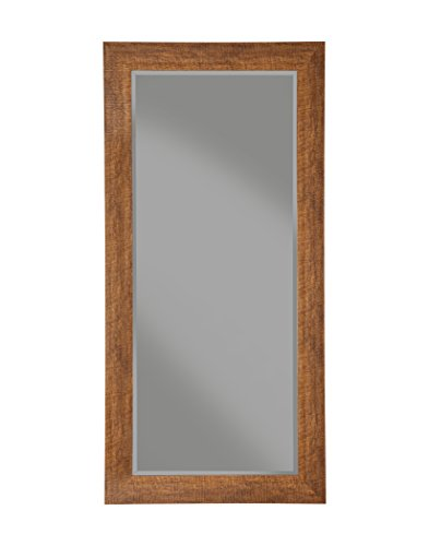 Sandberg Furniture Rustic Full Length Leaner Mirror, Honey Tobacco - Finish: distressed Honey Tobacco pine finish Four (4) inch frame features beveled glass Can be used as a leaner mirror or mounted on the wall either vertically or horizontally; perfect for the living room, bedroom, entryway, hallway, or bathroom - bathroom-mirrors, bathroom-accessories, bathroom - 31cyGuubriL -
