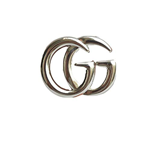 (YIAI Letter Designed Metal Brooch Pin All Party Jewelry for Women (Silver))