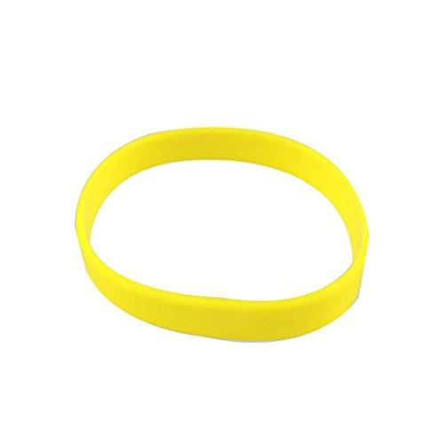 (Wholesale 5pcs/Set Plain Blank Silicone Wristband Rubber Bracelets Yellow)