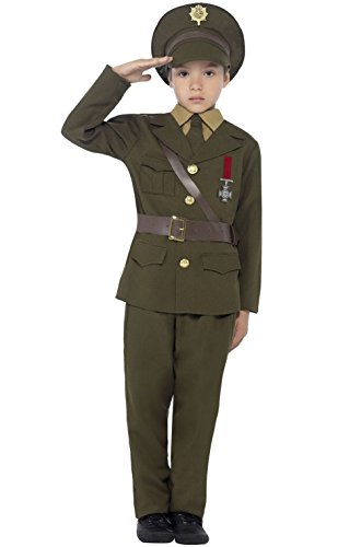 Child's Milk Maid Costume (Vintage Retro Army Officer Child Costume)