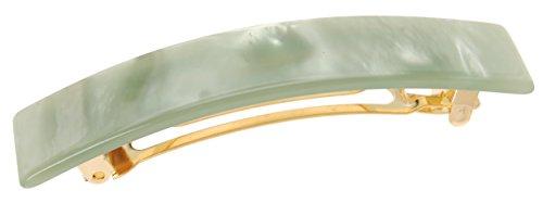 - France Luxe Classic Rectangle Barrette - Nacro Pistachio