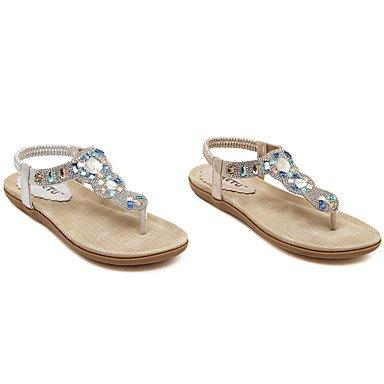 LvYuan Tacón Plano-Suelas con luz-Sandalias-Vestido Informal-PU-Oro Plata Gold