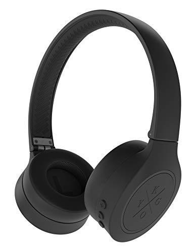 Kygo Life A4/300 | On-Ear Bluetooth Headphones, aptX Codecs, Built-in Microphone, Memory Foam Ear Cushions, 16 hours Playback (Black)