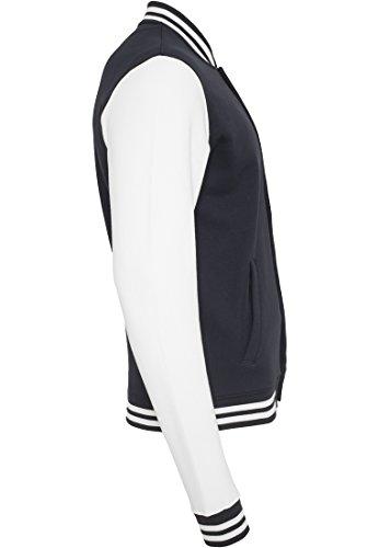 Urban 2 Classics Nvy College Sweatjacket wht Uomo Bekleidung Felpa Tone Brrwpx