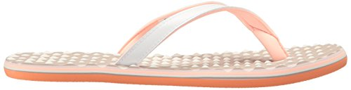 adidas Womens Eezay Flip-Flop White/Haze Coral Ice Purple Fabric jfpk22