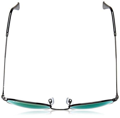 Hombre Mirrorgradientgreen Ban Ray Negro Black Sol para Gafas Shiny de dSdwUzXq